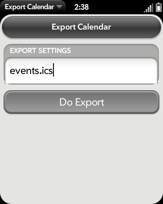 ExportCalendar Screenshot 0