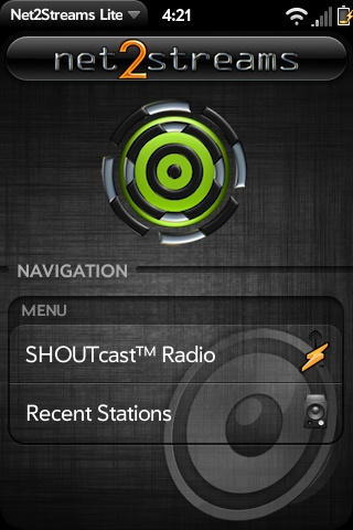 Net2Streams SHOUTcast Internet Radio Screenshot 0