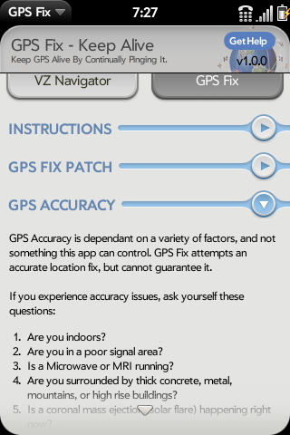 GPS Fix | webOS Nation