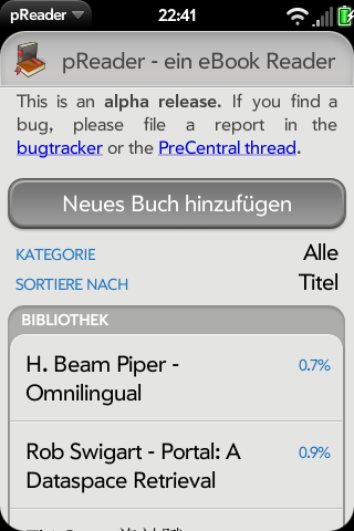 pReader Native Beta Screenshot 0