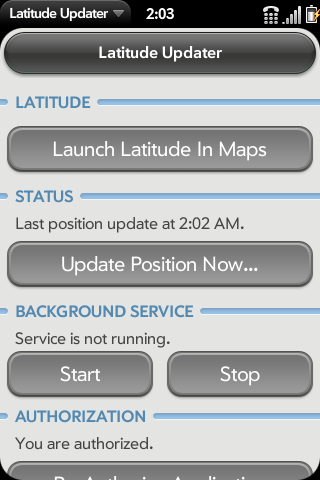 Latitude Updater Screenshot 0