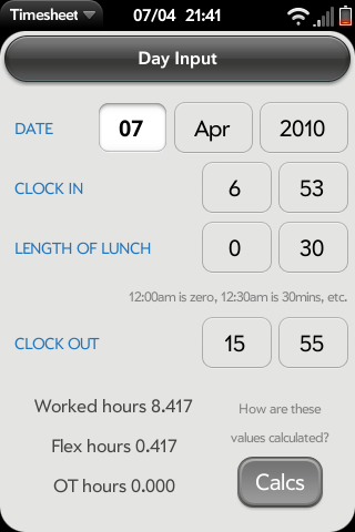 Timesheet Screenshot 0