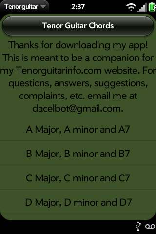 Tenor Guitar Chords Free Webos Nation