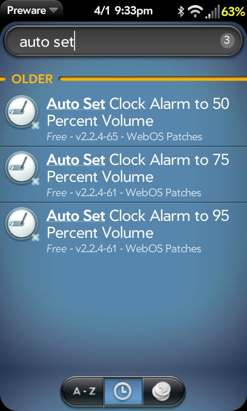 Install Auto Set Clock Alarm Volume patches | webOS Nation
