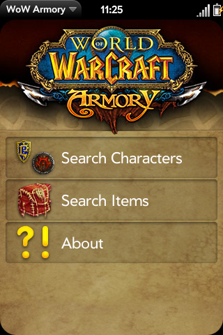 WoW Armory | webOS Nation