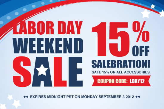Labor day weekend sale save 15 on all pre and touchpad for Labor day weekend furniture sales