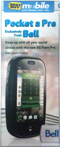 Best Buy  Mobile Palm Pre Ad Circular