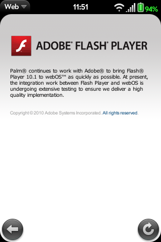 Flash on webOS