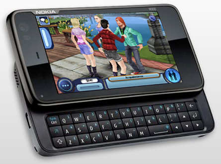 Nokia N900 with Sims 3 screenshot pasted in
