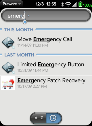 Preware Search for Emergency Patch Recovery