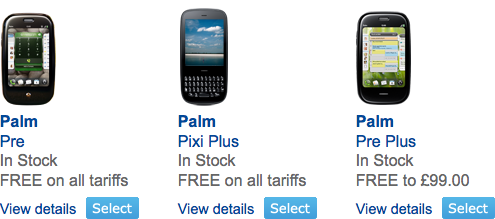 Palm Pre Plus and Palm Pixi Plus now available on O2 UK