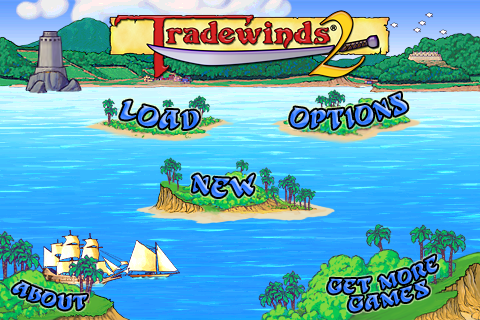 Tradewinds 2 menu screen