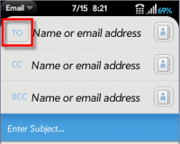 Email - TO, CC, or BCC option