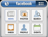 Facebook - Top menu