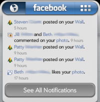 facebook app - notifications