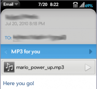 Email - with mp3 attachment