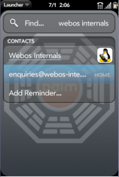 Universal Search - webos internals