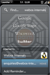 Universal Search - webos internals (expanded)