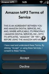 Palm Pre Amazon MP3 Store Terms of Service
