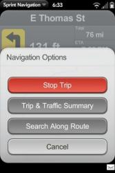 Palm Pre Sprint Navigation Options