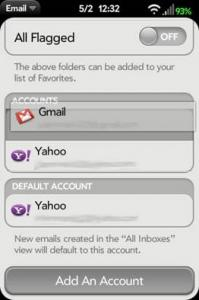 After Screenshot of rearranging email accounts