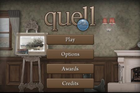 Main menu of Quell
