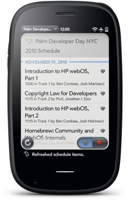 Palm Developer Day NYC 2010 Schedule app