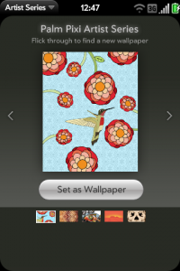 Palm drops Artist Series Wallpaper app for matching front with back | webOS Nation