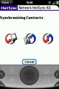 Palm OS HotSync in Classic