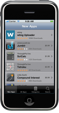 iPhone App Catalog browser