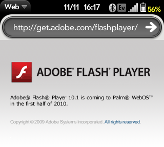 Adobe Flash on webOS